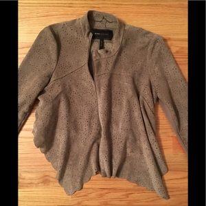 BCBG Max Azaria faux suede jacket